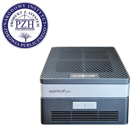 Aseptica Cubic (czarny) dezynfektor powietrza z filtrem UV.