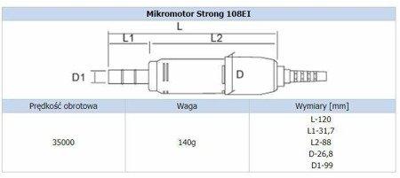 Mikrosilnik / mikromotor STRONG 108EI