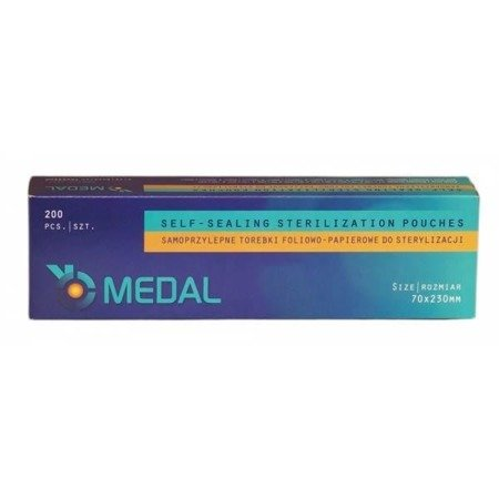 Torebki do sterylizacji Medal 70x230 mm